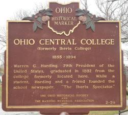 ohio_central_college_historical_marker