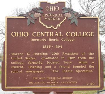 ohio_central_college_historical_marker